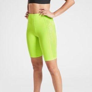 "NWOT Athleta Yellow Starfly 9"" Shorts"
